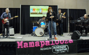 Eileen Carey and band on stage at the Babytime Expo